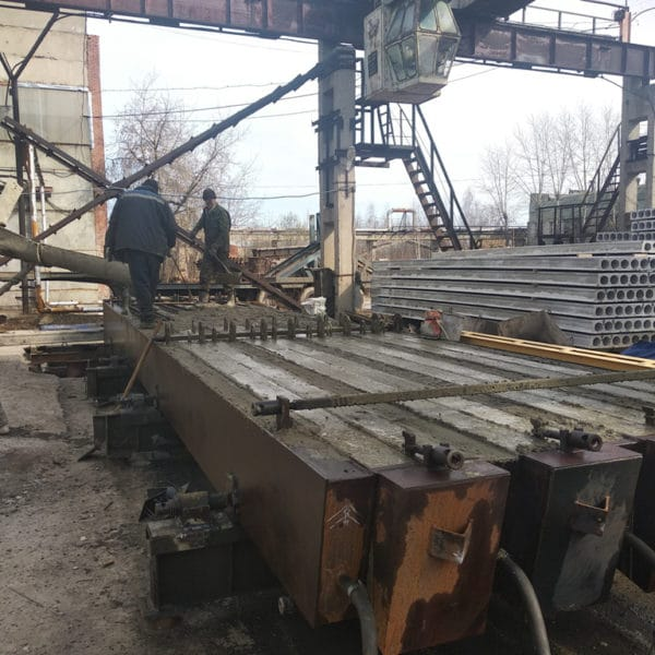 Формовка готовых изделий в металлоформе полурам РПС