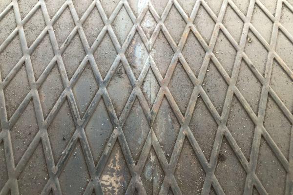 Стыковка рифлёного листа по рисунку - Форма дорожной плиты